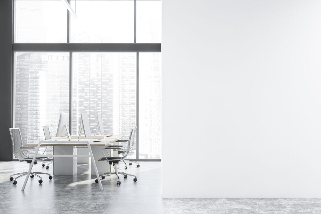 White can look clean, but can also appear sterile in the workplace