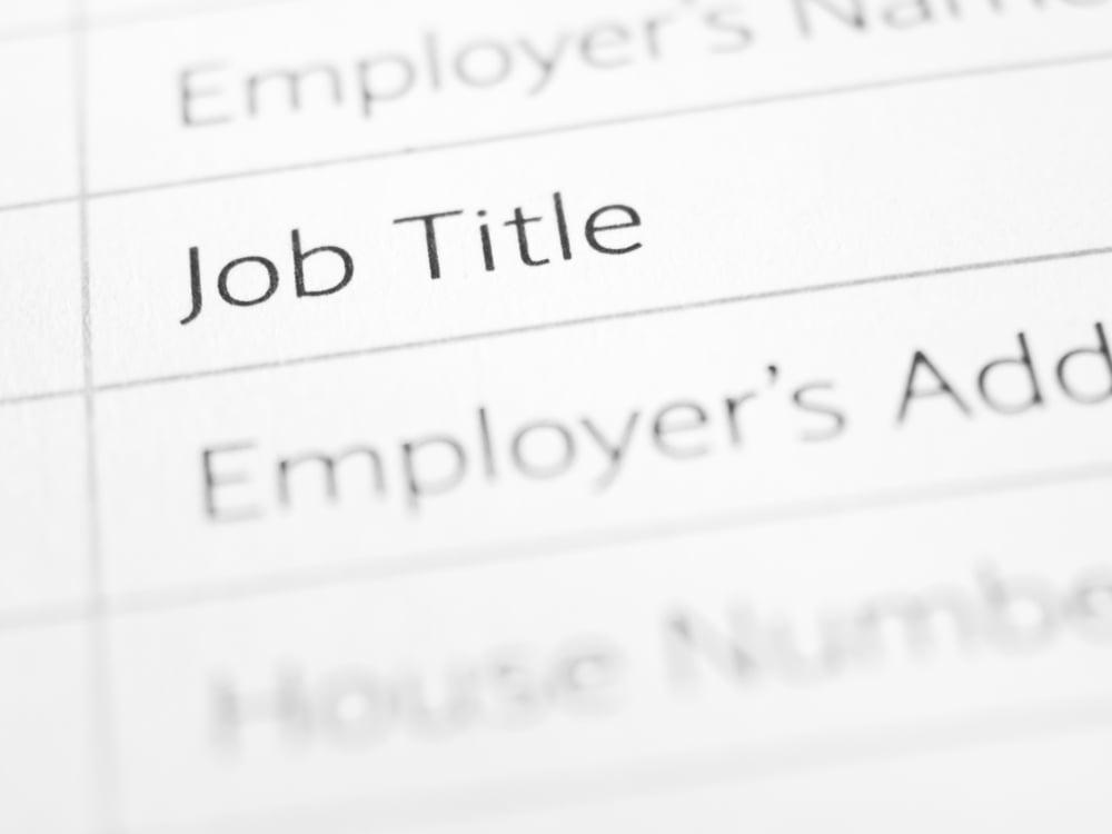 Job title as a part of job analysis