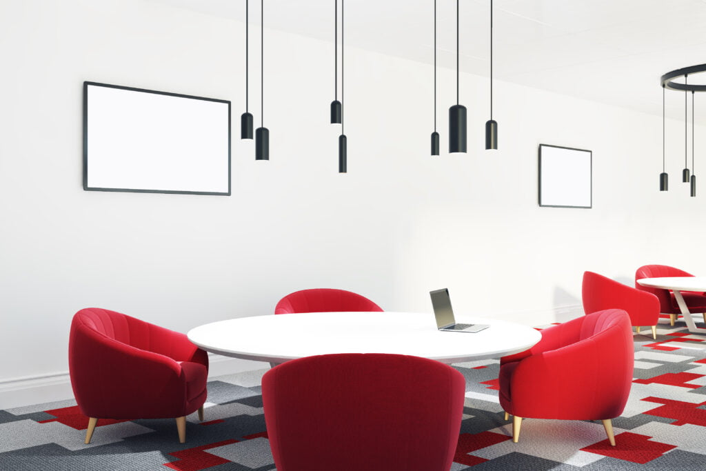 Red in the workplace can increase blood flow
